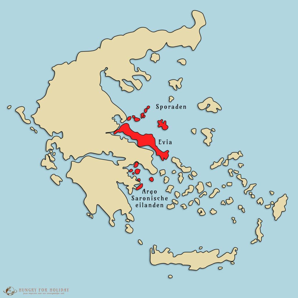 De Sporaden, Evia en de Argo Saronische eilanden. Bekendste griekse eilanden