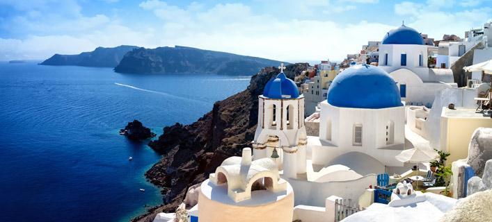 Het prachtige Santorini